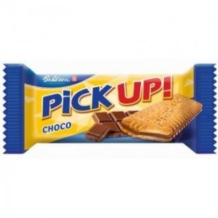 Печенье -сэндвич Pick-up choco с плиточкой шоколада 24шт*28г
