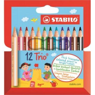 Карандаши цветные 12цв 3-гран Stabilo Trio Jumbo 205/12-01