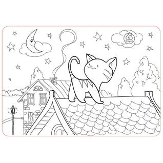 "ЯиГрушка Коврик-раскраска маленький ""Котёнок"" размер 48х33,5 см Арт 59891"