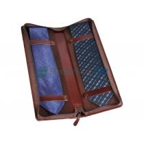 Чехол для галстуков William Lloyd из натуральной кожи, коричневый