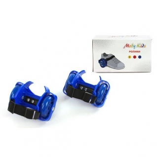 Двухколесные ролики (свет), синие Moby Kids