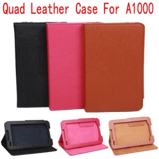 Portable Protective PU Leather Stand Case Cover for Lenovo A1000 3 Color