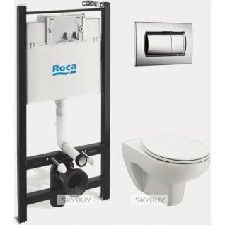 Комплект Roca Victoria ПЭК 893100000 инсталляция + унитаз + сиденье+ кнопка