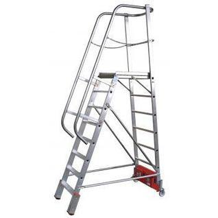 "Лестница с платформой ""VARIO Компакт"", траверса 2000 10 ступ."