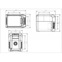 Автохолодильник компрессорный Colku DC-25T (24л, 12/24/220В)