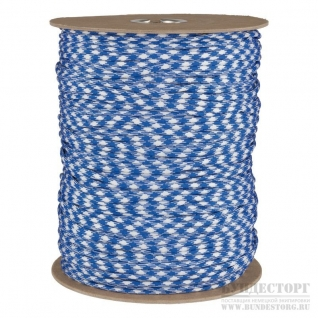 Made in Germany Паракорд, цвет бело-синий, мерный товар