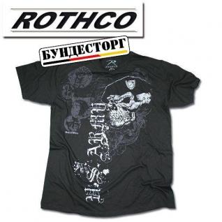 Rothco Футболка с рисунком черепа с беретом