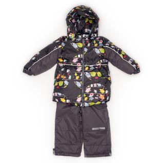 Комплект MalekBaby (Куртка + Полукомбинезон), Без опушки, №274/1 (Птички+серый) арт.409ШМ