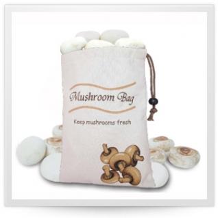 Хранение продуктов, овощей. Мешочки для овощей. Обработка продуктов. Potter Ind. Ltd. Мешочек для хранения грибов Mushroom bag NMKC057/CV