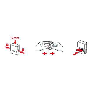 Штамп самонаборный пласт. 8/6стр. Pr.C50-Set-F 69х30 рамка/персонализация