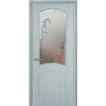 Дверное полотно МариаМ Парадиз ПВХ остекленное 600-900 мм