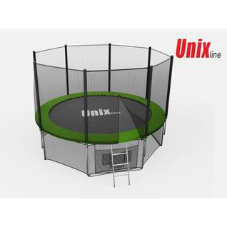 UNIX Батут Unix 14 ft с внешней сеткой Зеленый
