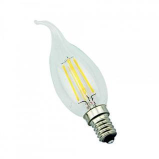 Elvan E14-5W-3000K Лампа LED (Свеча на ветру прозрачная Филомент)