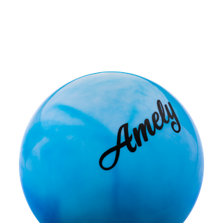 Мяч для художественной гимнастики Amely Agb-101, 19 см, синий/белый
