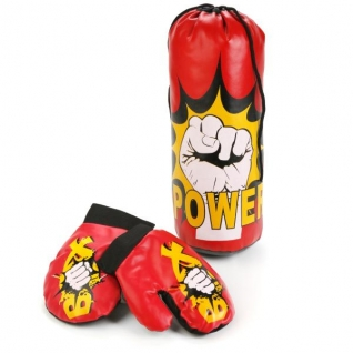 Набор Для Бокса (Груша, Перчатки) В Сетке 32см