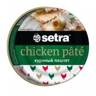Мясные консервы Паштет Setra из курицы, 100гр