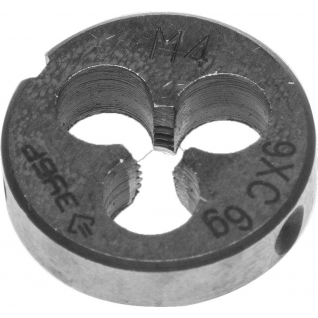 Плашка ручная для нарез. метрич. резьбы, ЗУБР М4 x 0,7