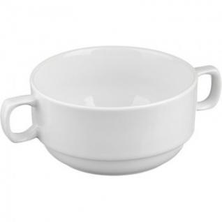 Чаша для бульона с ручками 360 мл фарфор белый ИЧШ 30.360