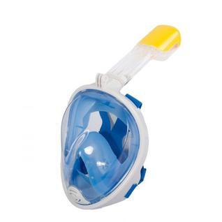 Маска для плавания с трубкой (Маска для снорклинга, голубая L/XL) Bradex