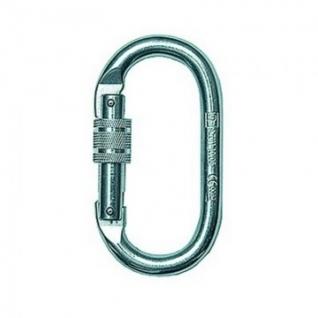 Карабин страховочный стальной Safe-Tec AZ011 овал винт зев 18мм (SZA011)