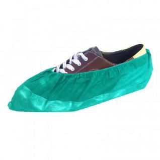 Бахилы ламин. 2-ая резинка бело-зеленые ЭЛ-ЛАМ-ЗБ 250пар/уп