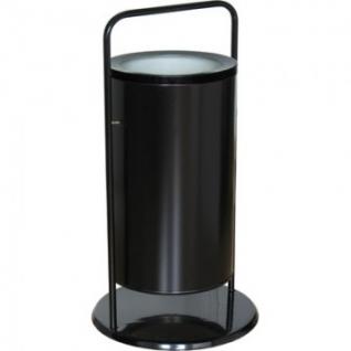 Урна стальня арт СЛ3-300 черная 300х510мм объем 36 л