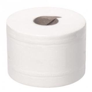 Бумага туалетная д/дисп 2сл бел цел втул 100м 12рул/уп