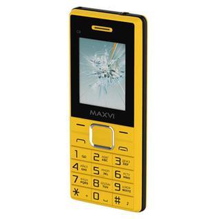 Мобильный телефон Maxvi C9 yellow-black (2483) 1.77/2Sim/32Mb/желтый/черный