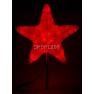 """Neon-Night Акриловая светодиодная фигура """"Звезда"""" 80см, 240 светодиодов, красная, NEON-NIGHT"""