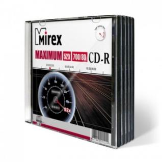Носители информации Mirex CD-R MAXIMUM 52x slim case 5 pack (UL120052A8F)