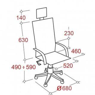 Кресло MT_Samurai SL-2.03, арм.сетка/кожа черный (033011057)