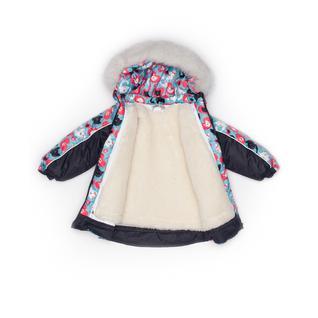 Комплект MalekBaby (Куртка + Полукомбинезон), С опушкой, №242/1 (Коты+черный) арт.409ШМ/2