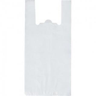Пакет-майка Пакет-майка, ПНД, 28+13x57см,прозрачный, 15 мкм, 100 шт/уп