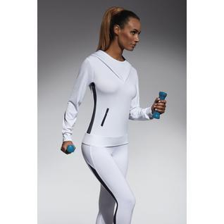 Толстовка с капюшоном для фитнеса Imagin белый S Imagin blouse Bas Bleu