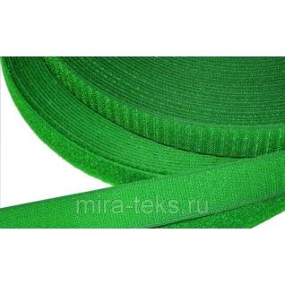 Липучка 50 мм ( лента контакт, велькро ) для одежды, цвет: зеленая Miratex