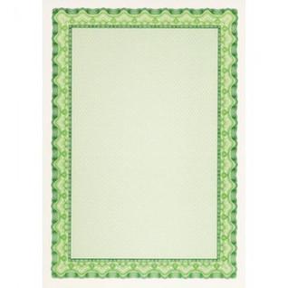 Сертификат-бумага DC-OSD4054 зеленая рамка (А4,115г,уп.25л.)