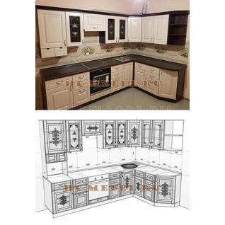 Кухня БЕЛАРУСЬ-9.3 модульная угловая, правая, левая