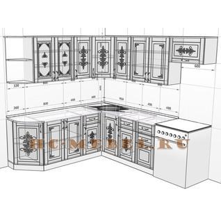 Кухня БЕЛАРУСЬ-9.4 модульная угловая, правая, левая