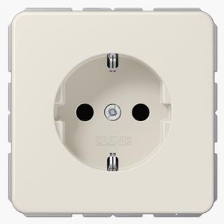 Розетка электрическая Jung CD1520 SCHUKO 16A 250V~ с заземлением слоновая кость пластик