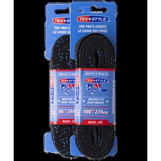 Шнурки для коньков с пропиткой Tex Style W918, пара, 2,74 м, черные