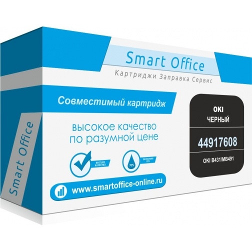 Картридж 44917608 для OKI B431/MB491, совместимый, черный, 12000 стр. 4878-01 Smart Graphics 851570 1