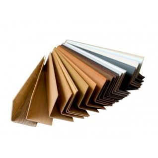 Угол ПВХ 30х30х2750 мм, цвет коричневый 108 CEZAR