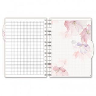 Бизнес-тетрадь А5,140л,кл,спир,пласт Attache Selection Flower Dreams Dots