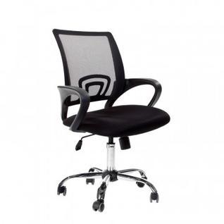 Кресло VT_EChair-304 TC Net ткань черн/сетка черн, хром