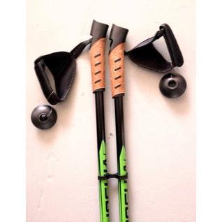 Скандинавские палки Vinson (Plus зелёные, с пробковой рукояткой)