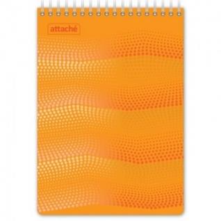 Блокнот WAVES оранжевый А5 спираль 50л. пласт.