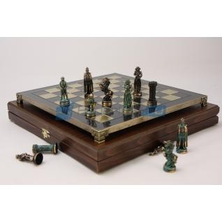 "Шахматы с тематическими фигурами ""Королева Шотландии"", темные фигуры"