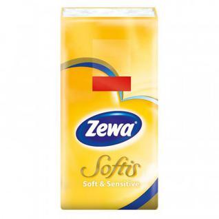 Платки носовые ZEWA Софтис Софт Сенситив 4сл 830422 бел 9штх10