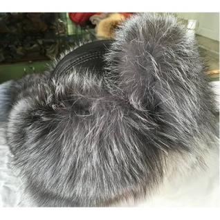 Мужская шапка из чернобурки