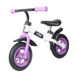 Детский беговел KidRun 10, бело-фиолетовый Moby Kids